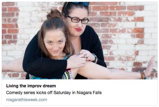 Comedian Brie Watson and Dina Senior host improv comedy series in Niagara Region.