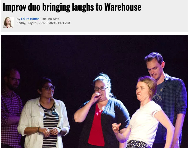 Brie Watson and Dina Senior produce improv comedy show at Warehouse in St. Catharines
