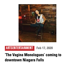 Brie Watson performs in The Vagina Monologues at Camp Cataract in Niagara Falls