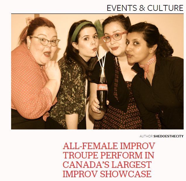 Brie Watson's troupe to perform at Canada's largest improv showcase