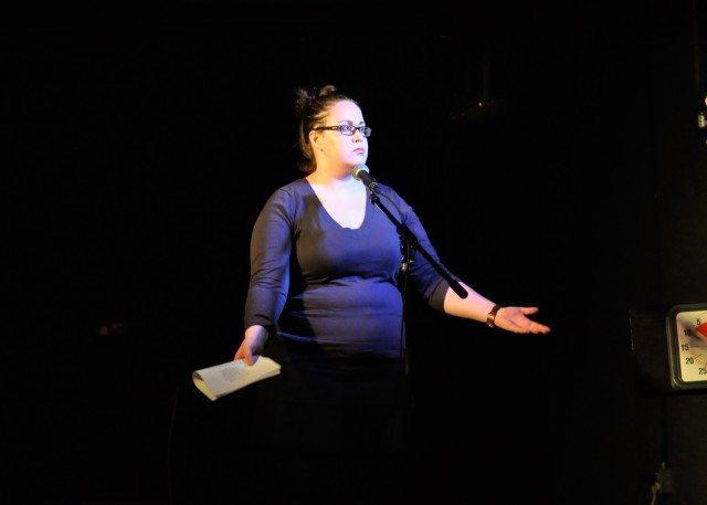 Comedian Brie Watson at Write Club Toronto